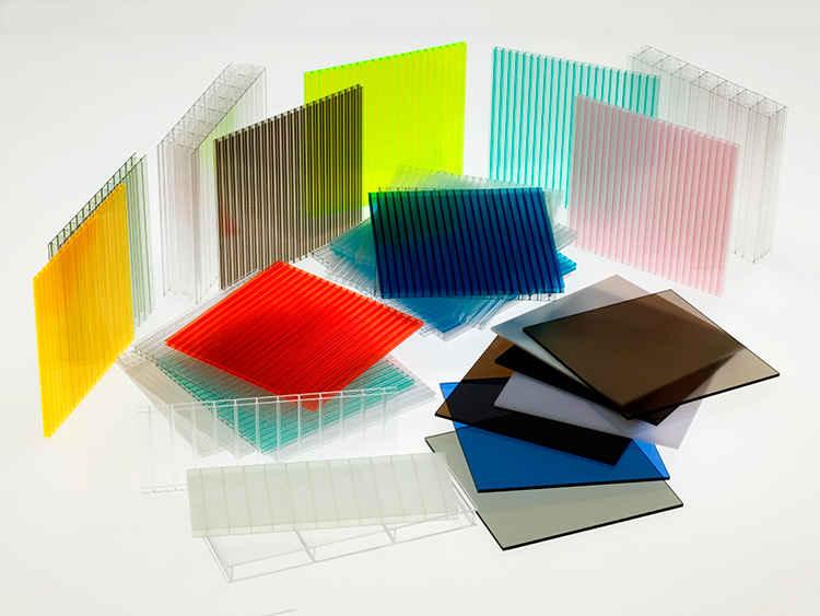 انواع و رنگ های ورق های پلی کربنات