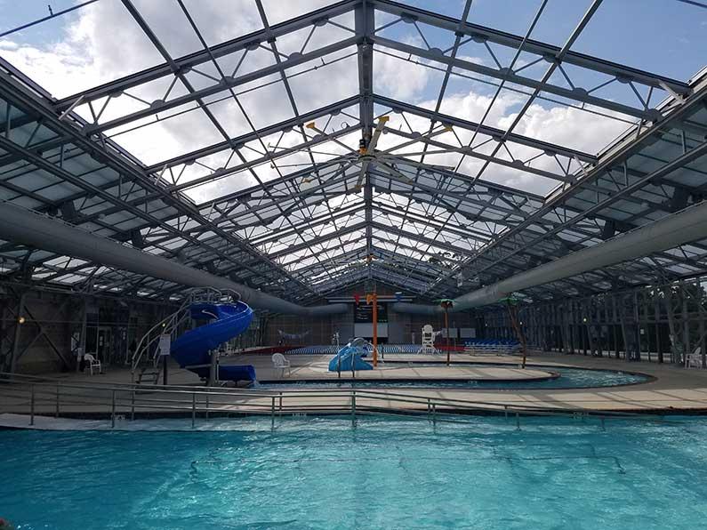 سقف متحرک پارک آبی