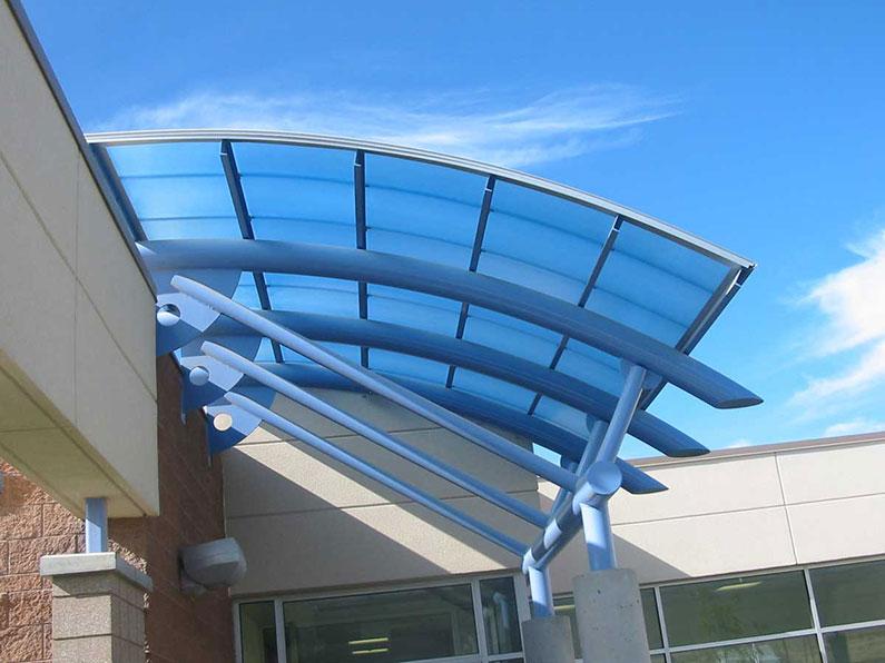 سقف ثابت آبی